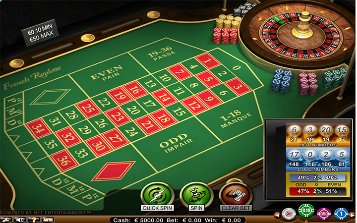 French roulette coups casino club